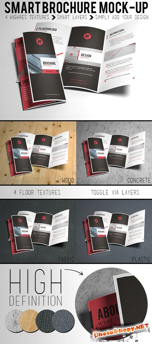 Smart Brochure Mock up Template PSD