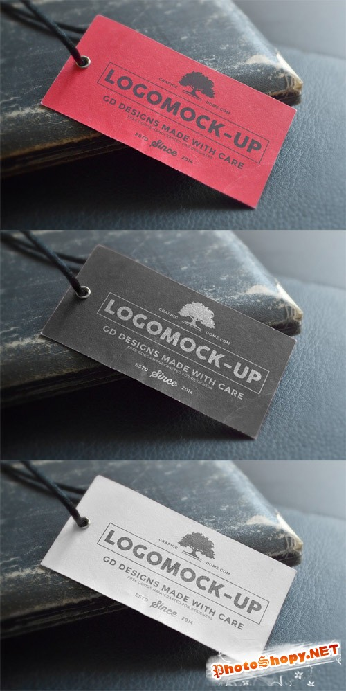 Logo Label Mock-up PSD