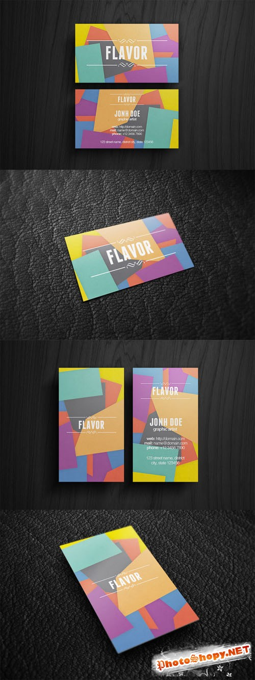 Flavor Business Card PSD