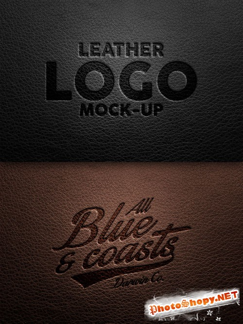 Leather Logo PSD Mock-Up Template