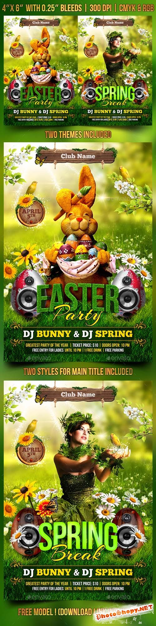 Spring and Easter Flyer Template