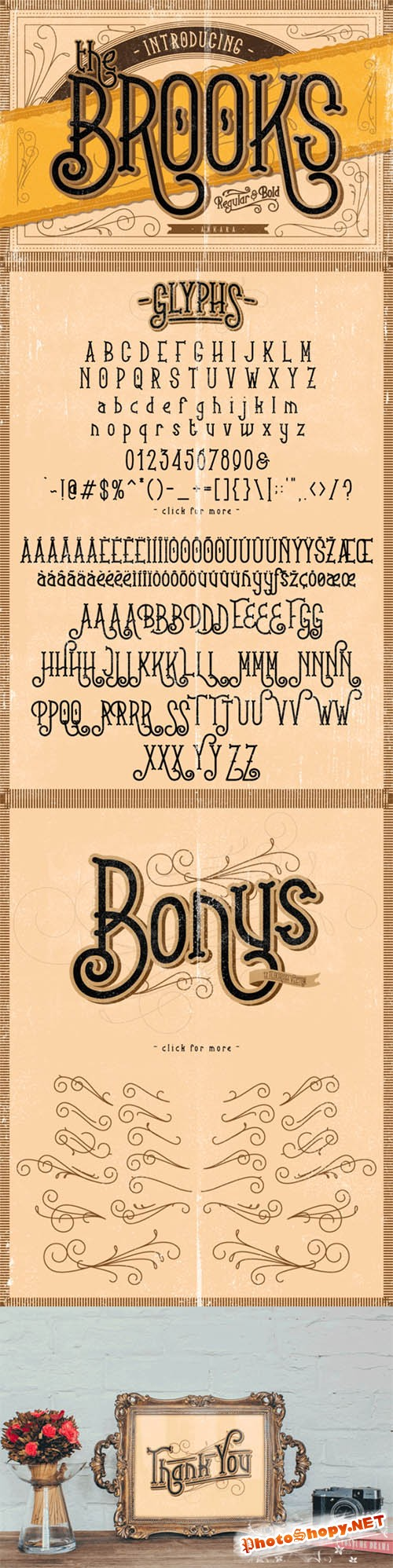 Brooks Font plus Bonus