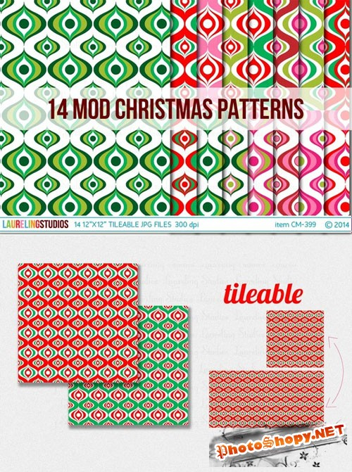 Modern Christmas Digital Paper - Creativemarket 104620