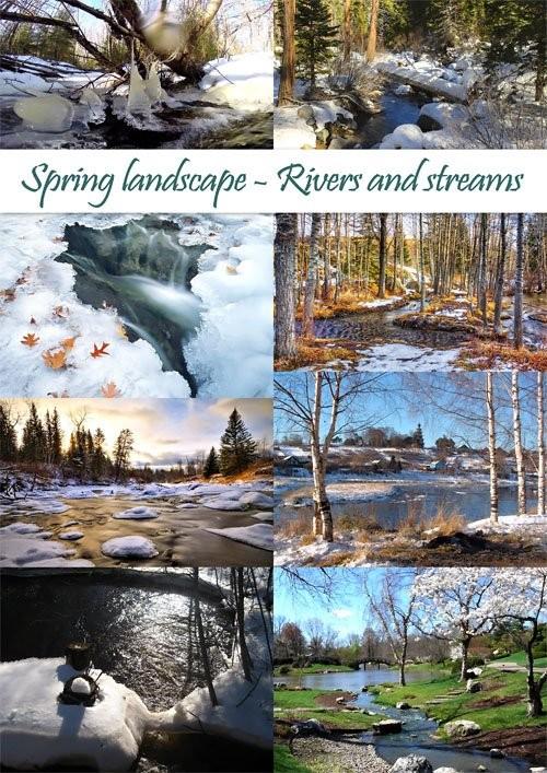 Весенний фото-клипарт Природа – Ручьи и реки