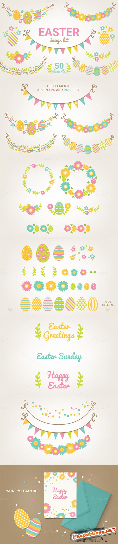 SALE - Easter Design Kit - Creativemarket 224710