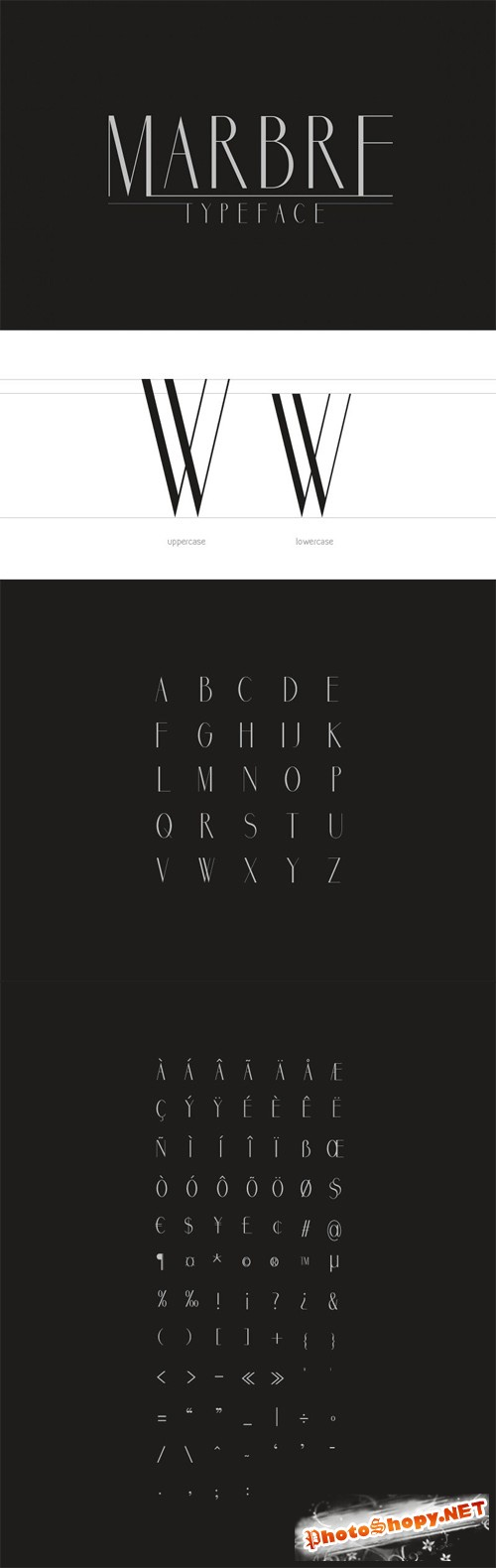 Font - Marbre Vintage Style
