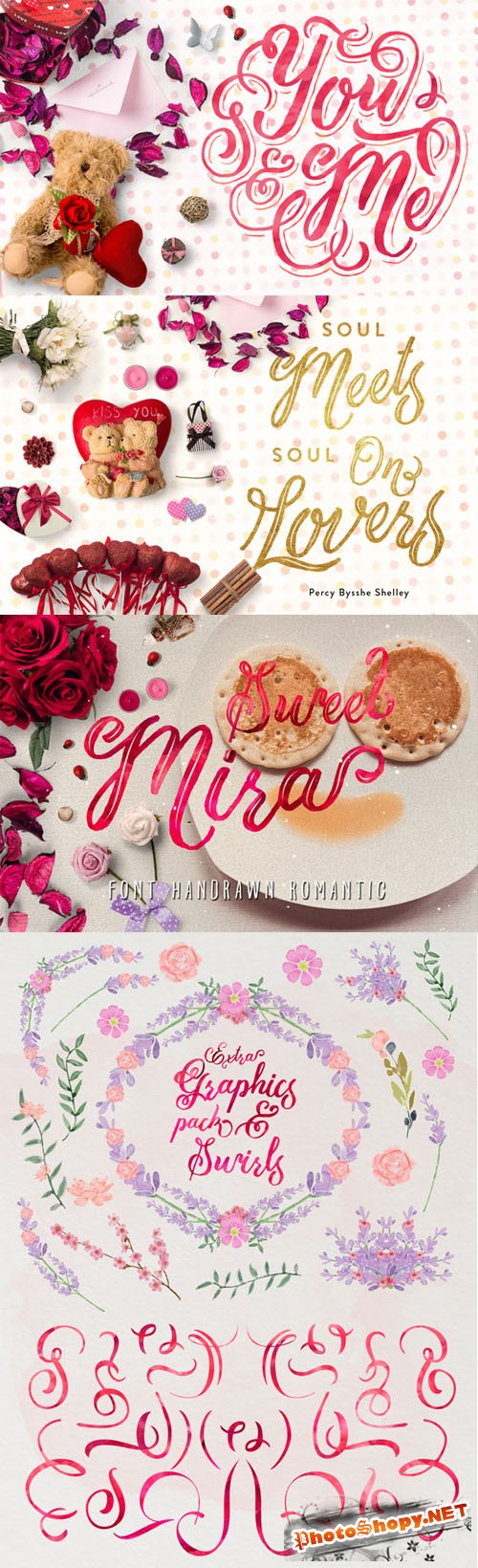 Mira & graphic watercolor & swirls - Creativemarket 167962
