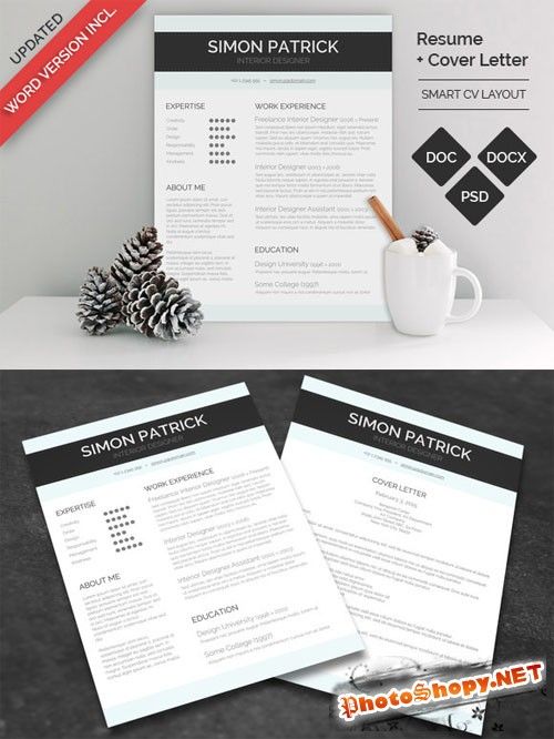 Smart Word CV & Cover Letter - Creativemarket 164288