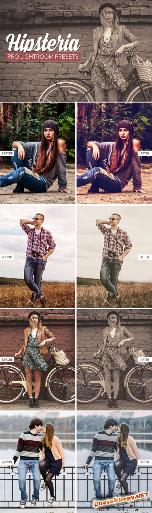 Creativemarket Hipster Lightroom Presets 147358