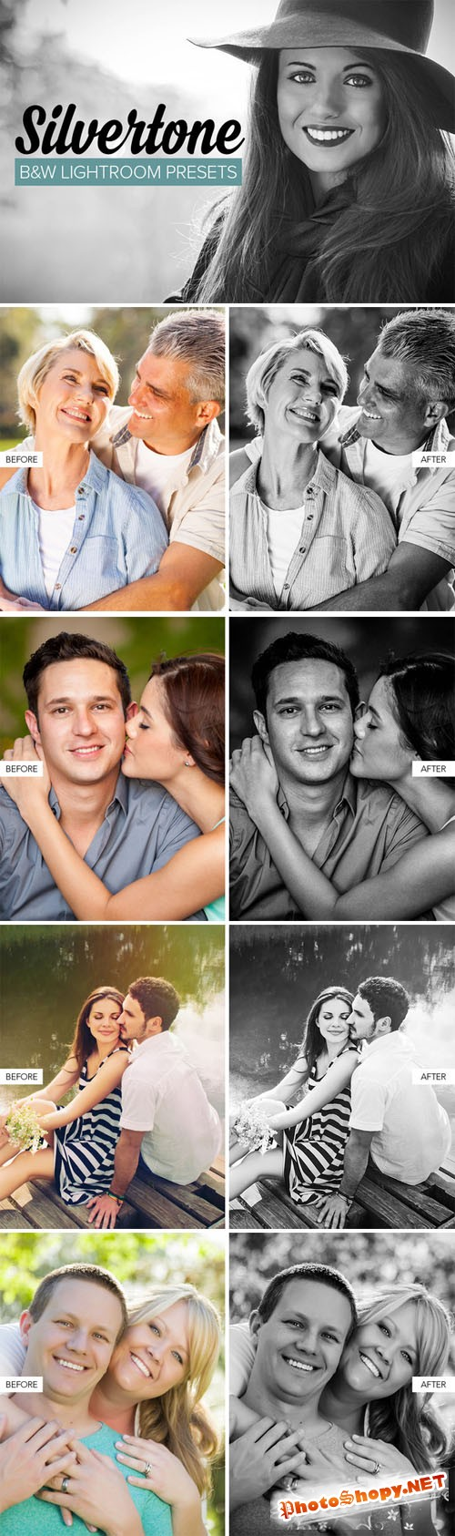 Black & White Lightroom Presets - Creativemarket 147952