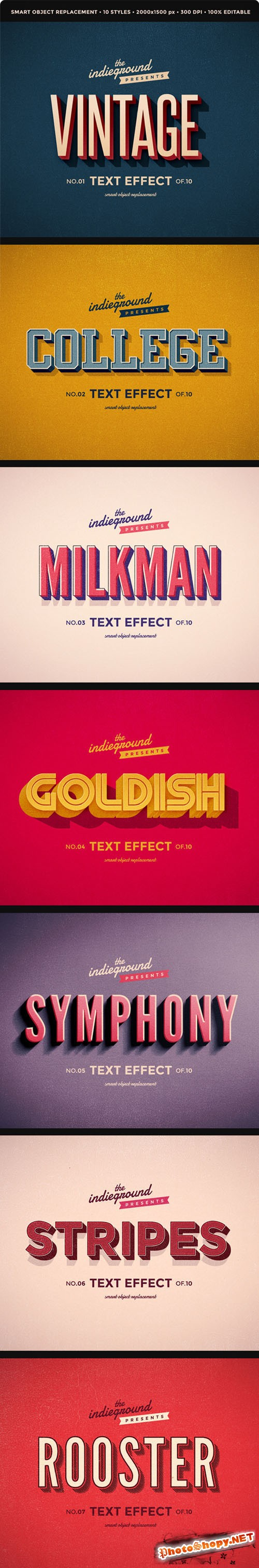 Retro Vintage Text Effects - Graphicriver 8095568