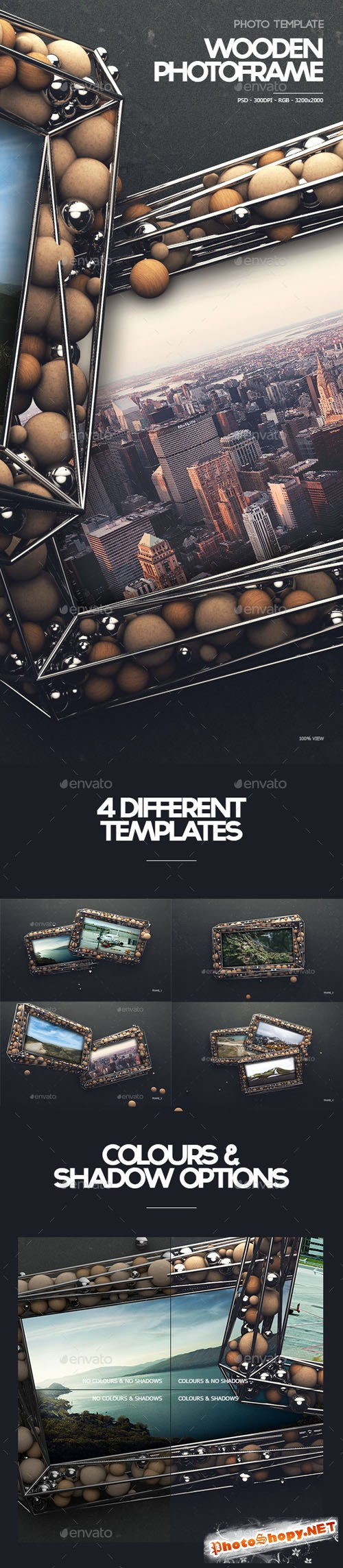 Wooden Photoframe Template V.1 - Graphicriver 10780981