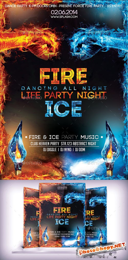 Fire & Ice Party Flyer - Graphicriver 9221177