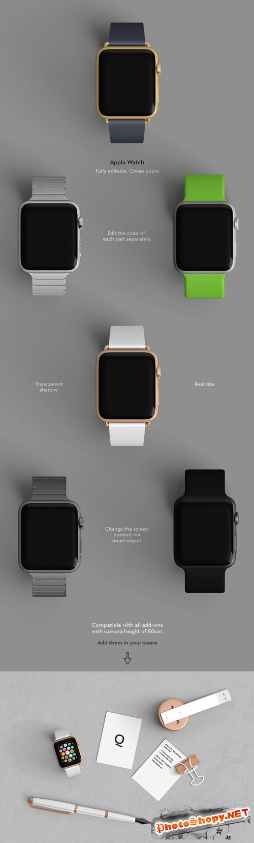 Add-On Apple Smartwatch Mock up PSD