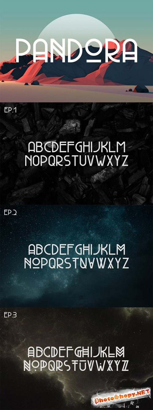 Pandora Typeface Font