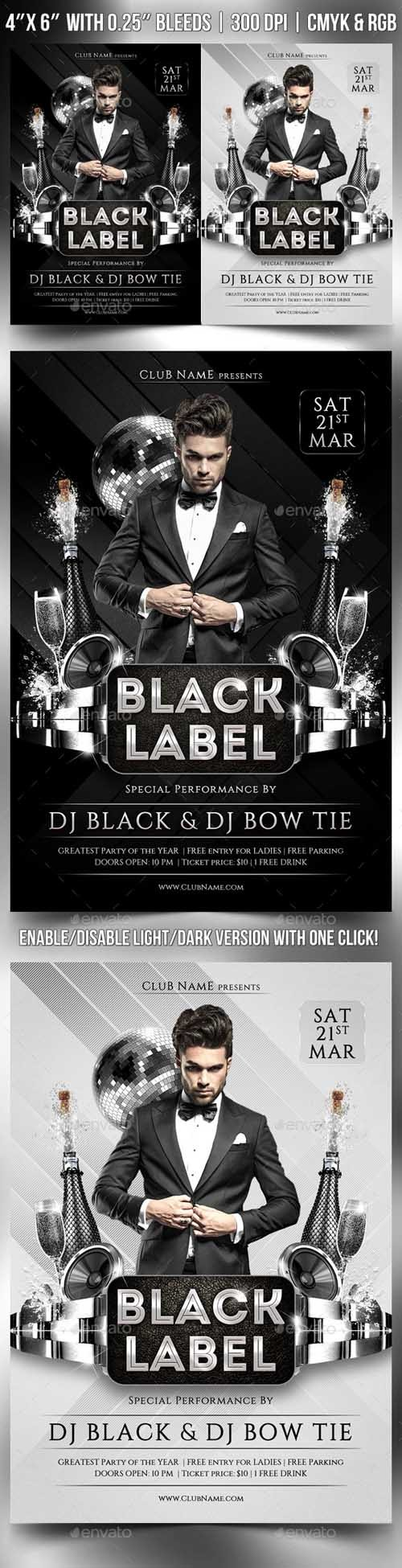 Flyer Template PSD - Black Label