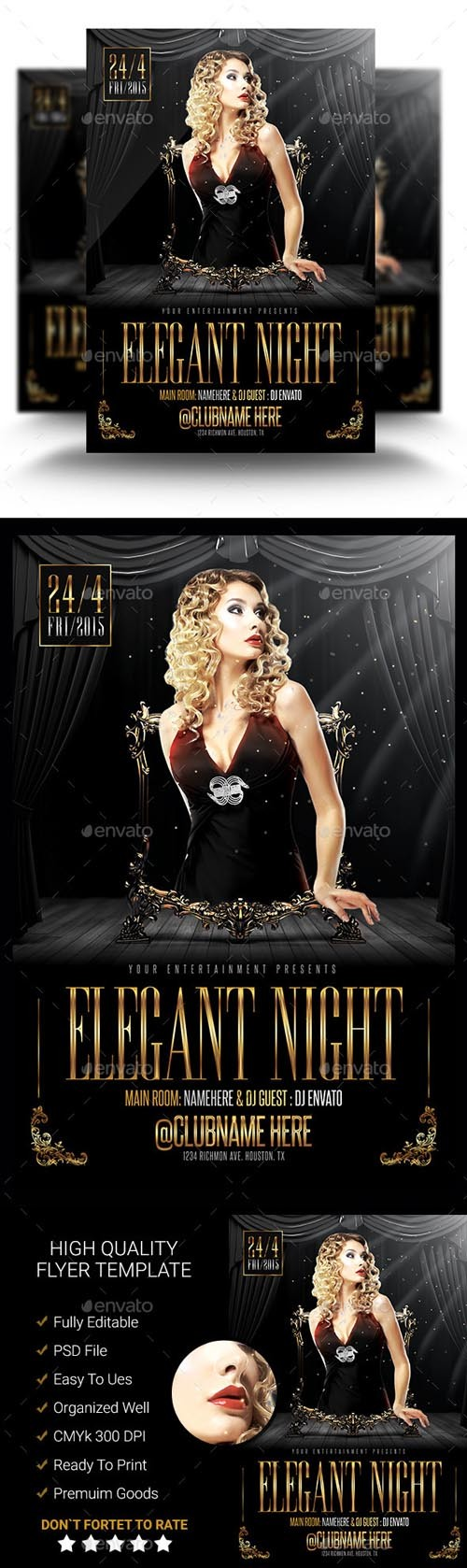 Flyer Template PSD - Elegant Night 02
