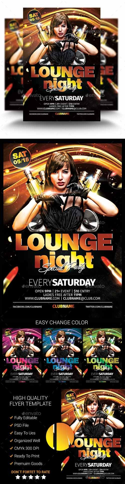 Flyer PSD - Lounge Night Party