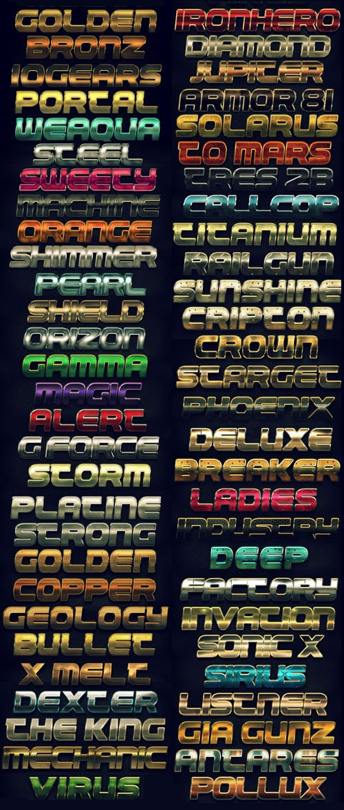 Metal Text FX BUNDLE - Graphicriver 5578655