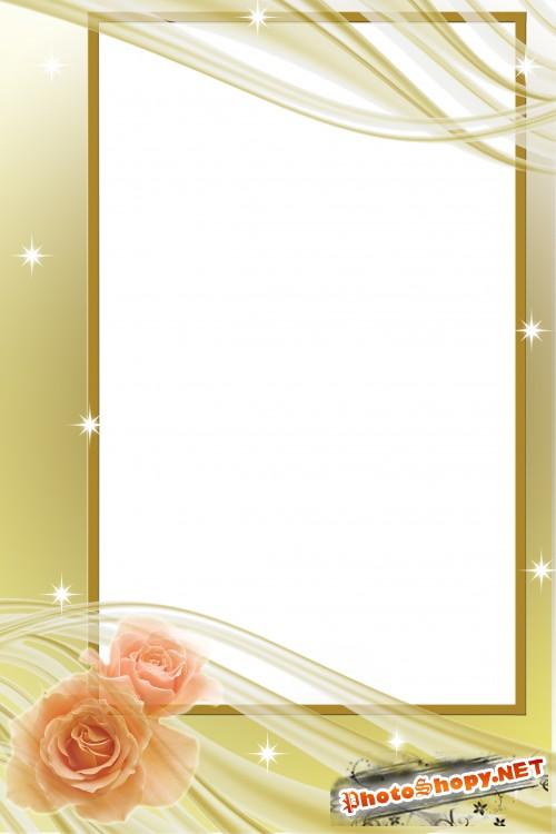 Рамка для фотошопа – Нежная роза