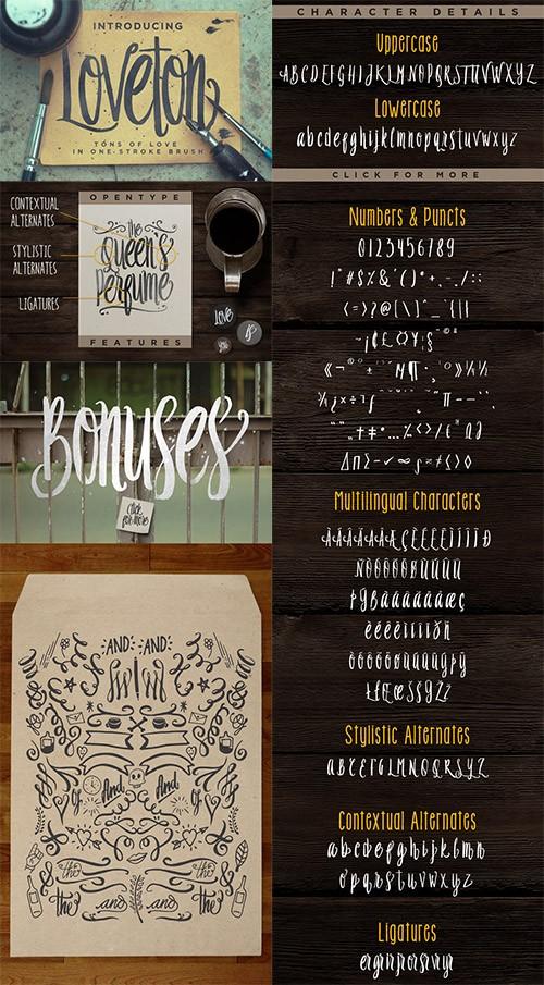 Loveton Typeface Font