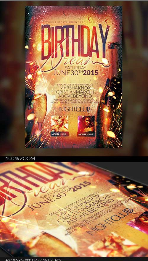 Flyer Template - Birthday Celebration