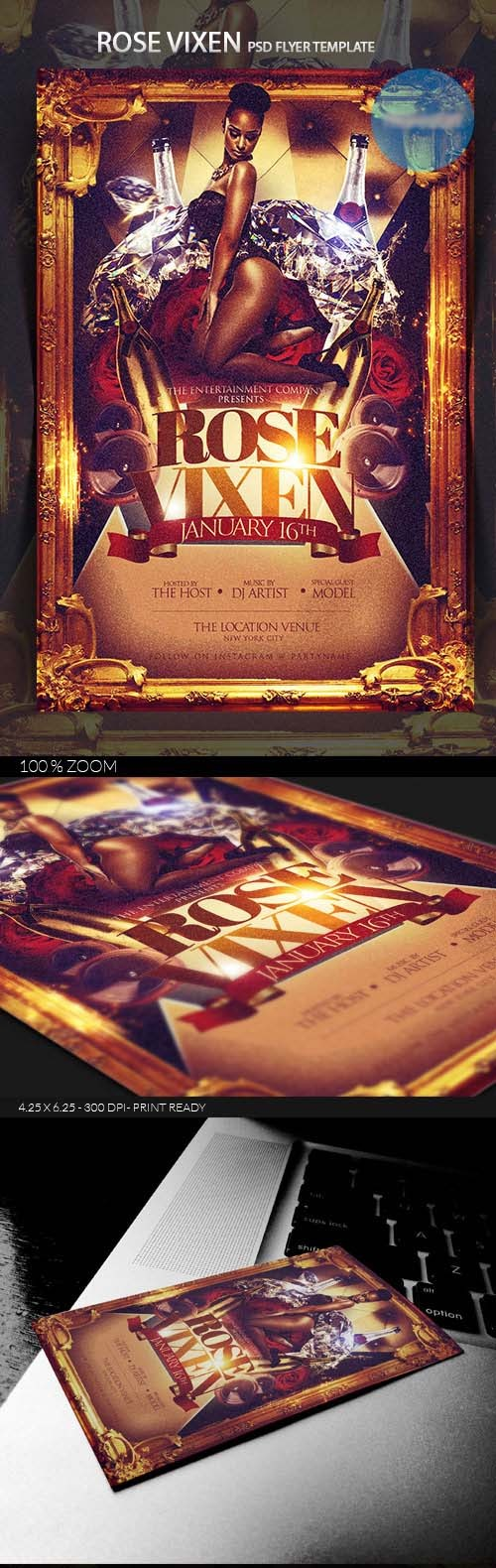 Flyer Template - Rose Vixen