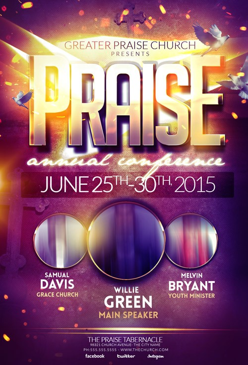PSD Template - Praise Gospel Flyer