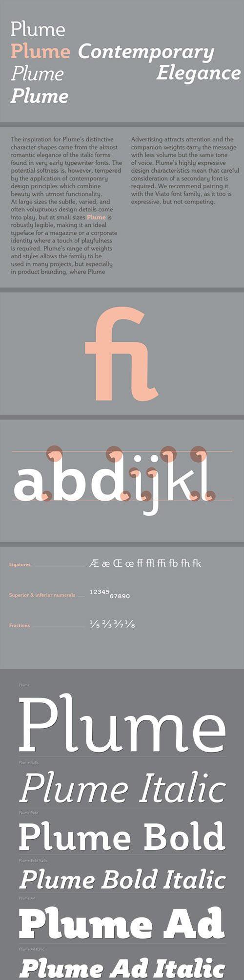 Plume - For Magazine Font