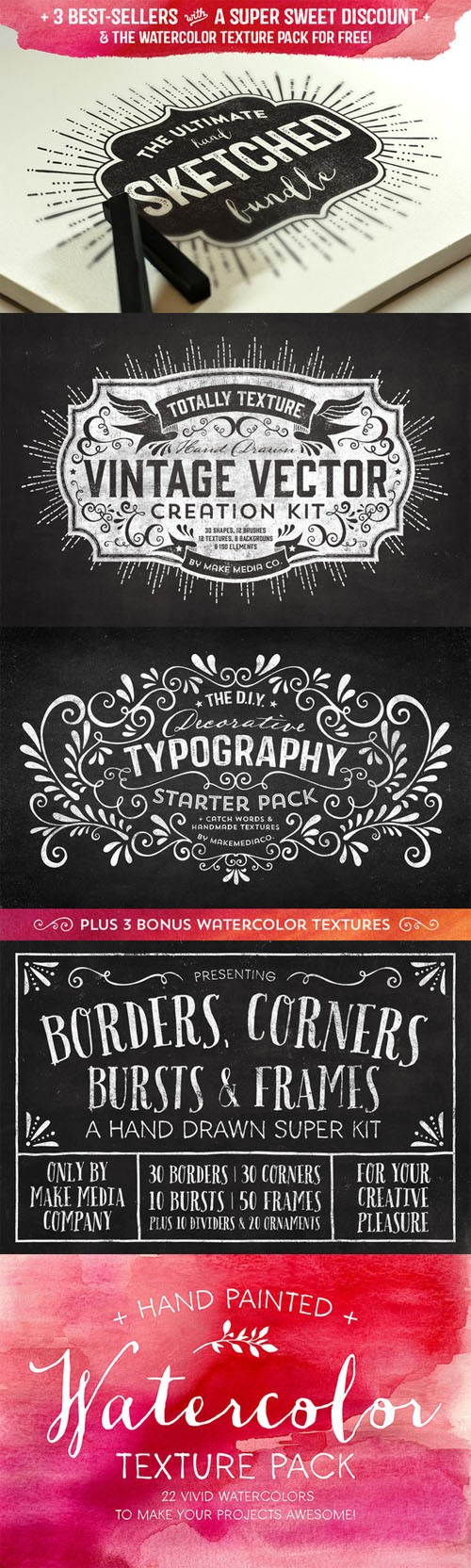 Creativemarket - The Ultimate Hand Sketched Bundle 75228