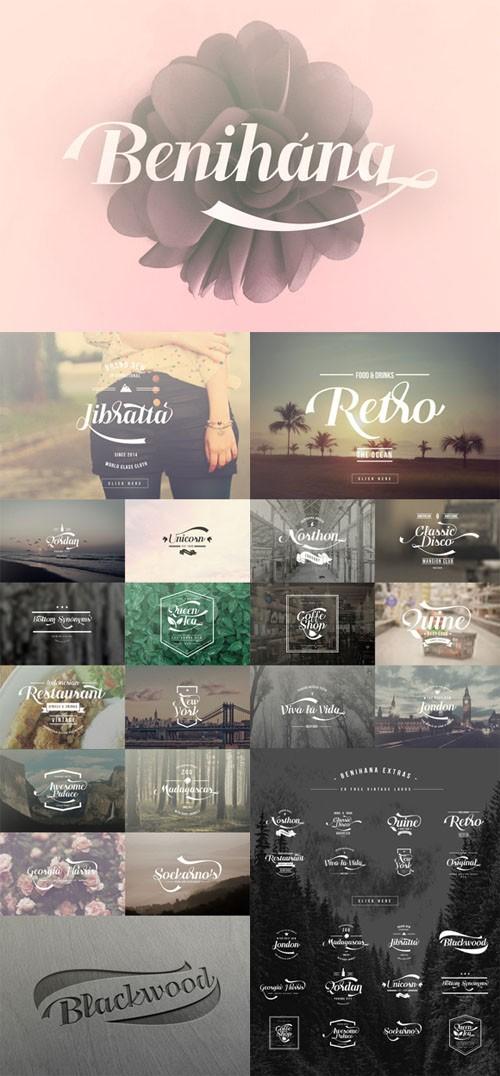 Creativemarket - Benihana Typeface with EXTRAS 245711