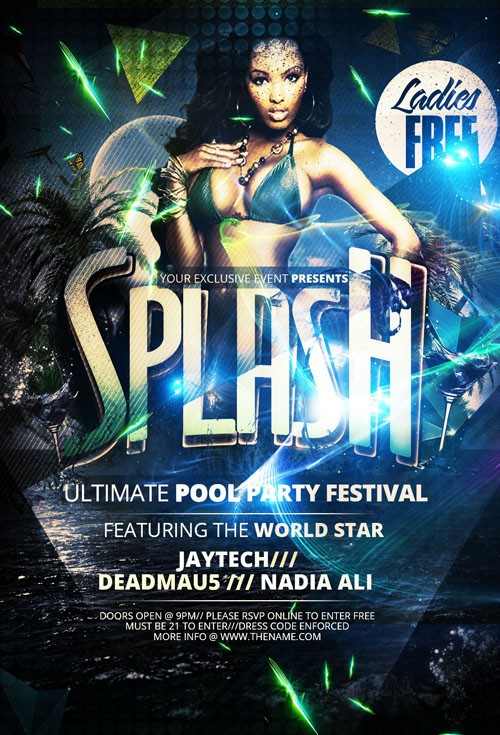 Flyer Template - Splash Pool Party