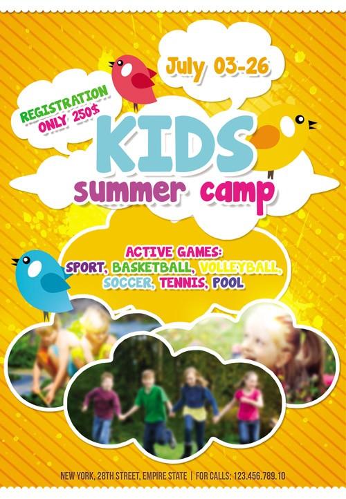 Flyer Template - Kids Summer Camp Facebook Cover