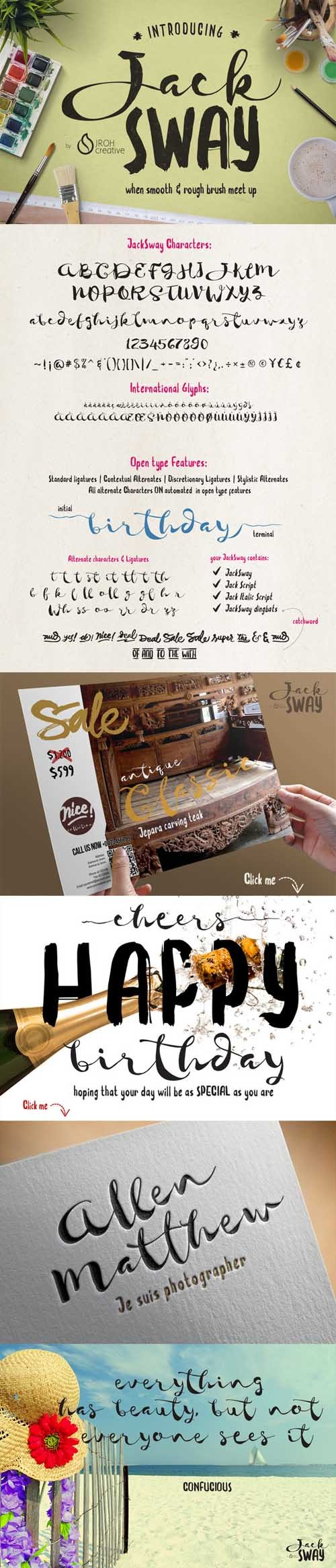 JackSway Typeface plus Extras
