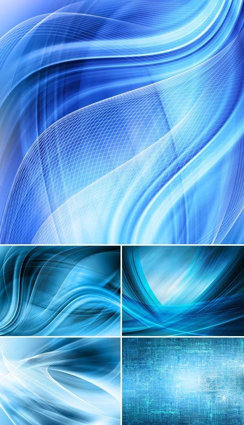 Голубой абстракт
