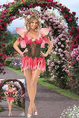Женский фотошаблон - Фея в прекрасном саду