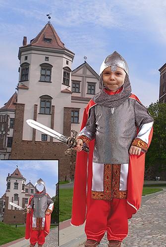Детский фотошаблон- Богатырь