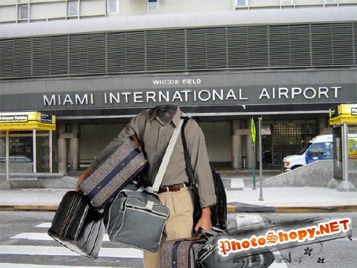 Шаблон для фото - Прилет в Майами