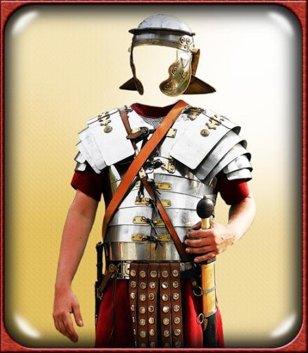 Psd шаблон для фотошоп - Римский воин в латах