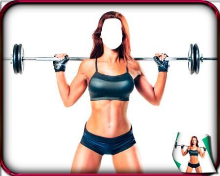 Фотошаблон - Подсела на фитнес