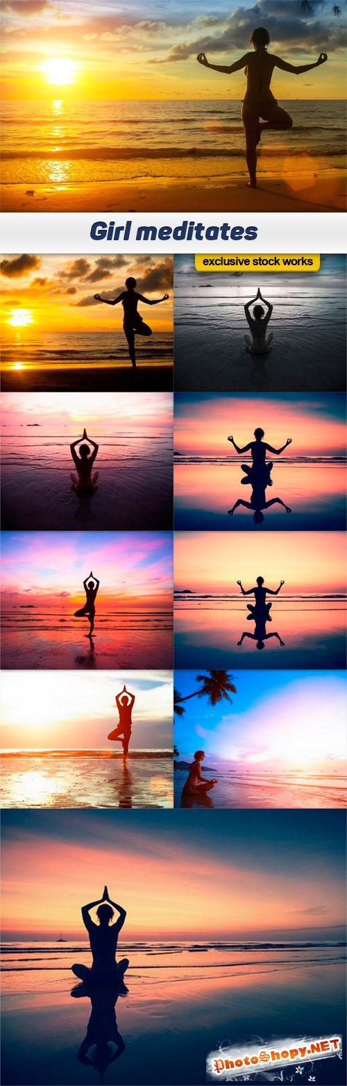 Girl meditates - 10 UHQ JPEG