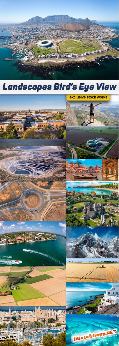 Landscapes Bird's Eye View - 15 UHQ JPEG