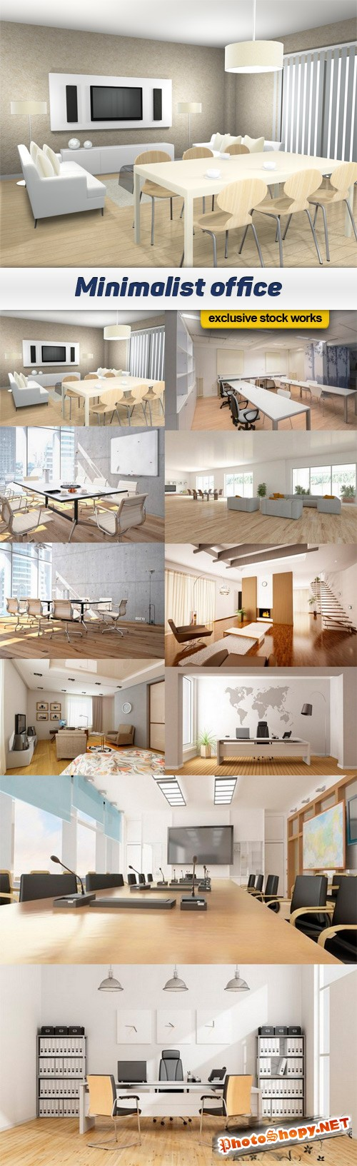 Minimalist office - 10 UHQ JPEG
