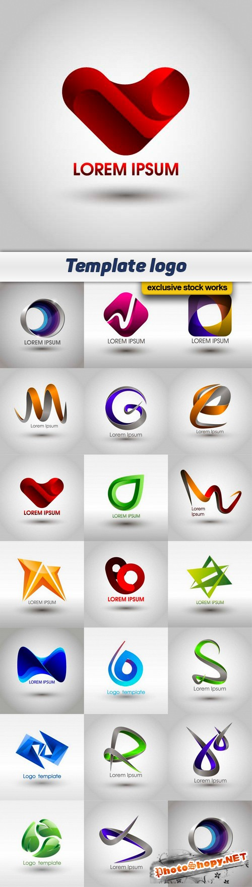 Template logo - 20 EPS