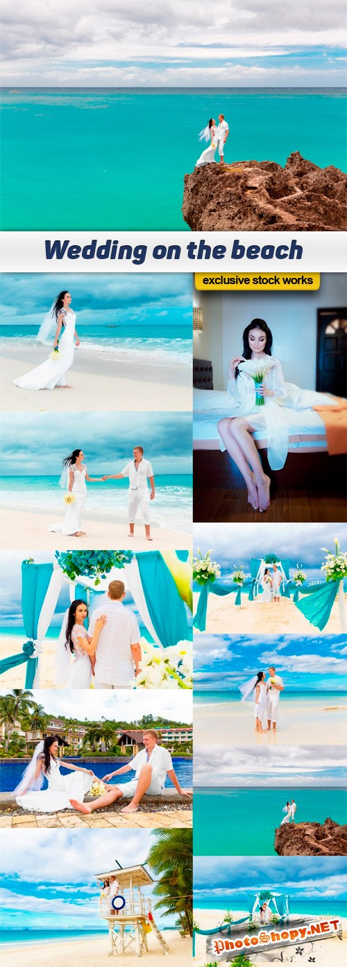 Wedding on the beach - 10 UHQ JPEG