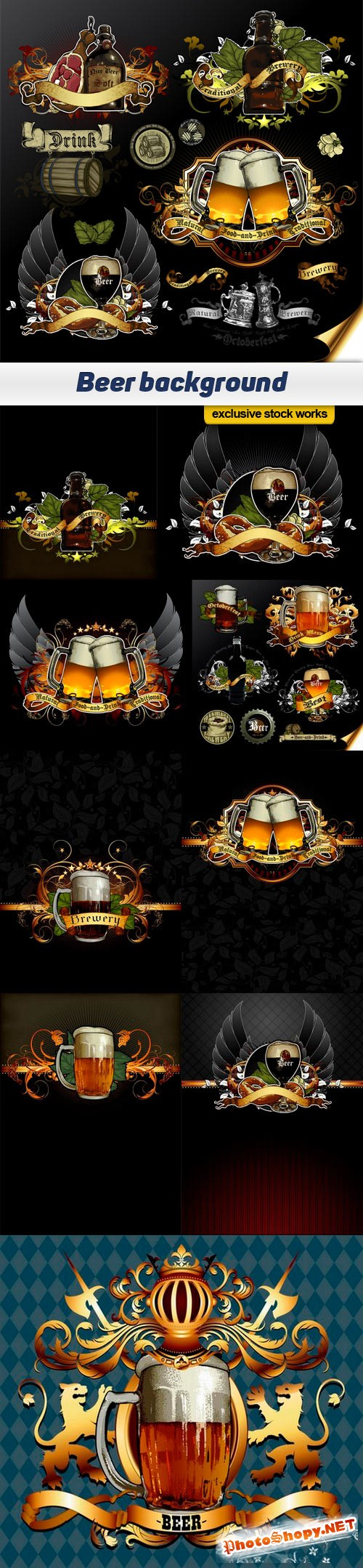 Beer background - 10 EPS