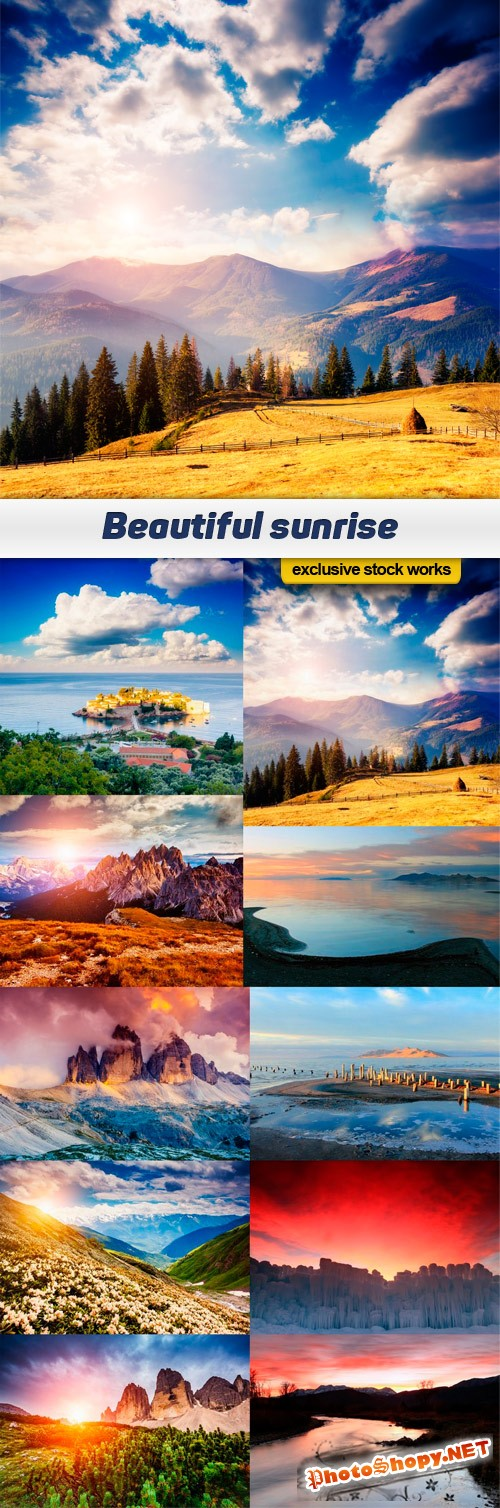 Beautiful sunrise - 10 UHQ JPEG