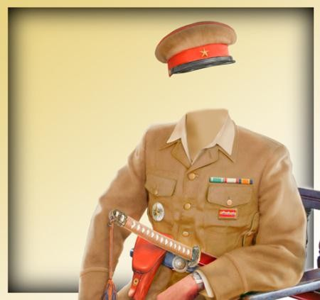 Фото шаблон - Японский командир