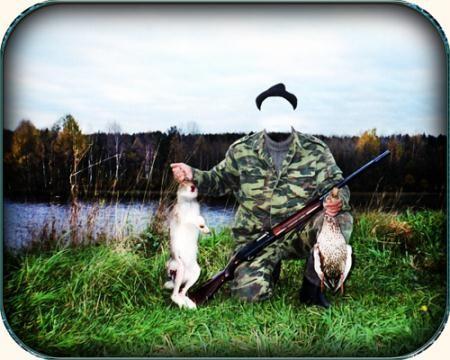 Фотошаблон - Заяц и утка