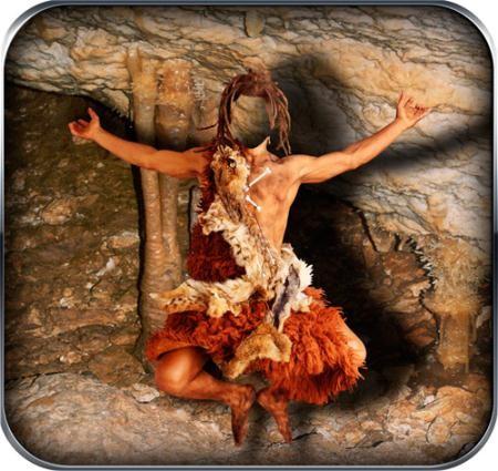 Фотошаблон для фото - Пещерный каннибал